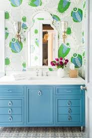Blue Bathroom Vanity by Blue Bath Vanity With Drop Pulls Transitional Bathroom