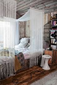 Diy Canopy Bed With Lights Pretty Wall Tree Strung With Christmas Lights My Home