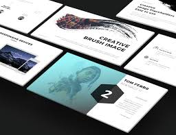 fancy scroll portfolio powerpoint template free download free