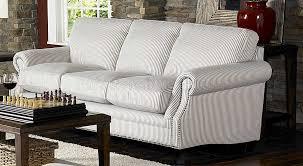 Cottage Style Sofas Living Room Furniture U0026 Blue Striped Fabric Cottage Style Sofa U0026 Loveseat Set