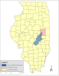 Champaign Illinois Map by Natural Resources Damage Assessment