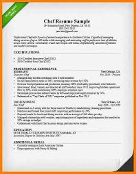 Culinary Resume Template Executive Chef Resume Template Billybullock Us