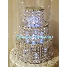 fabulous inspiration cake stand with crystals and charming wedding