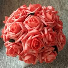 party centerpieces for tables 24 bunches flowers artificial coral roses 144 flower heads