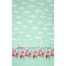 Home Decor Print Fabric Michaell Miller Flamingo Border Seafoam From Fabricdotcom