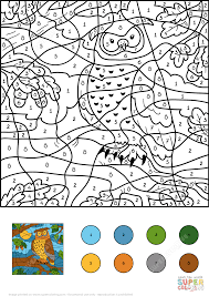 owl color by number printable coloring pages click the to view