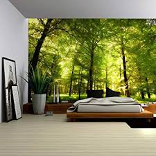 green wallpaper home decor amazon com wall26 crowded forest mural wall mural removable
