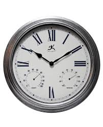 Wall Watch by 16 Inch Rustic Outdoor A Gray Resin Wall Clock Clock By Room