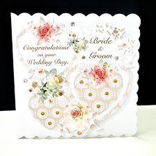 wedding day card coral three heart wedding day card decorque cards
