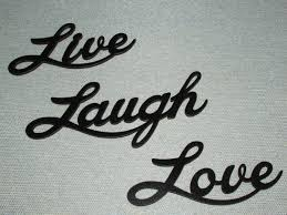 live laugh love large words laser cut wood wall art accents