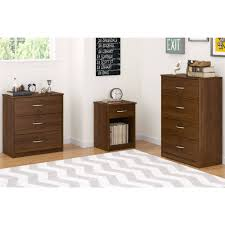 Cherry Wood File Cabinet 4 Drawer by 3 Drawer Dresser Chest Bedroom Furniture Black Brown White Storage