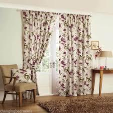 Aubergine Curtains Curtina Kerena 3 Inch Lined Curtains 66 X 108 Inch Aubergine Ebay