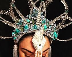 jewelled headdress jewelled headpiece etsy uk