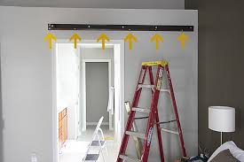 Installing Interior Sliding Doors Barn Door Track Installation Ggregorio