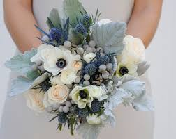 blue wedding flowers all things floral etsy