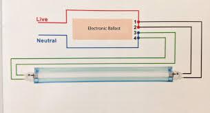 fluorescent lights fluorescent light wiring diagram emergency