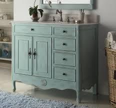 38 inch bathroom vanity with 4 drawers on right cottage style
