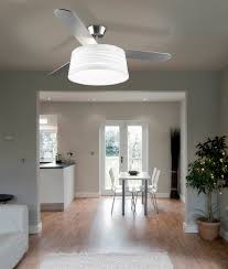 modern ceiling fan with light and drum shade house pinterest