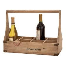shop woodland imports unique home accents 8 bottle tabletop wine