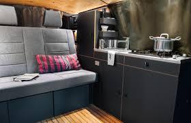 camper van with bathroom luxury living on the go elegantly minimalist camper van