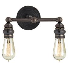 Brass Bathroom Lighting Fixtures by Buy The E F Chapman Boston Functional Double Light By Visual Comfort