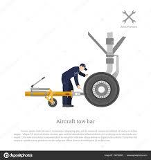 repair and maintenance of airplane mechanical locks the tow bar