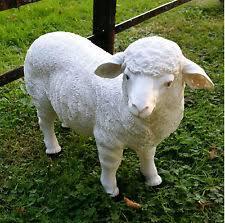 plastic resin sheeps garden ornaments ebay