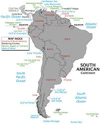 bodies of water list political map of south america worldatlas com