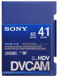 hdv cassette cassette dvcam 41 039 sans puce petit boitier sony