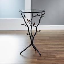 Tripod Side Table Innerspace Luxury Products Antique Bronze Bird And Branches Tripod