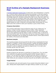 sample business plans templates plan outline template