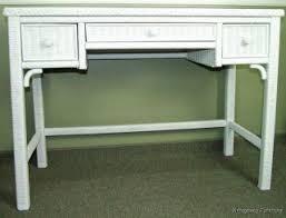 White Wicker Desk by Henry Link Xavier Ottoman In Golden Umber Finish 01 4011 1095 200171
