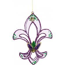 purple mesh fleur de lis ornament 22651 purple craftoutlet