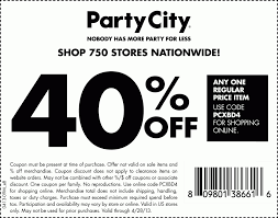 party city printable coupons menu and free printables