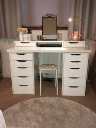 Vanity With Makeup Area by Furniture Modern Small Makeup Vanity Desk With Side Graded