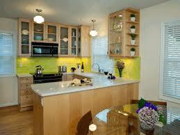 kitchen brick backsplash bright yellow brick backsplash sleek round transparent glass