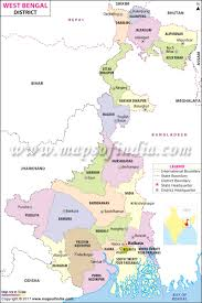 Blank Map Of The West Region by West Bengal District Map