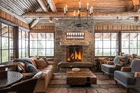 exterior and interior design of rustic house for city occupants