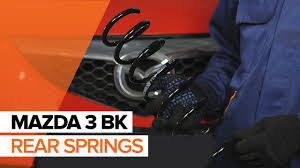 how to replace rear springs on mazda 3 bk tutorial autodoc youtube
