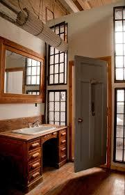 Rustic Reception Desk Reception Desk Ideas Bathroom Rustic With Framed Mirror Leaded