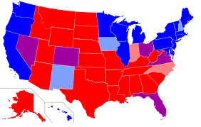 map of us states political eight real us electoral college maps that now look like science