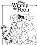 winnie pooh activity color pages kids stuff