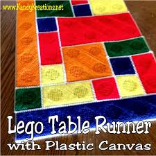 Plastic Table Runners Lego Table Runner Plastic Canvas Pattern Everyday Parties