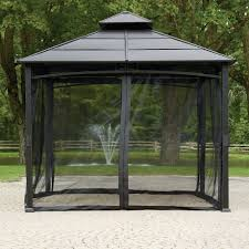 gazebo mosquito netting hometrends mosquito netting for 10 ft x 10 ft gazebo walmart canada