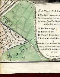Portland Street Map by Map Of Dublin 1798