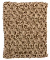honeycomb trellis square for knit your cables afghan knitting
