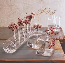 Japanese Flower Vases Modernist Ikebana Vases Cube Glass Vase Nova68 Com