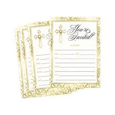religious invitations 50 gold religious invitations confirmation holy
