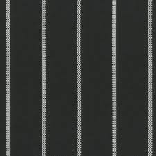 Striped Upholstery Fabric Tempotest Molto Bene 917 Black White Thin Stripe Indoor Outdoor