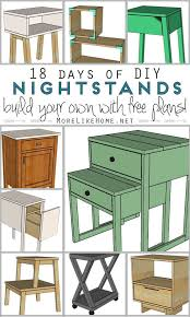 Free Plans To Build A End Table by Best 25 Diy Nightstand Ideas On Pinterest Crate Nightstand
